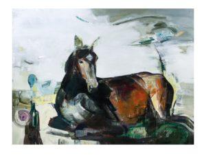 Marck Fink - UT Liggende hest 80x60cm Ed40