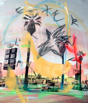 """Alberto Sanchez """"Shakeys"""" (Version 2) 60 x70 cm Archival Pigment print on fine art paper, hand-embellished with mixed-media Opplag 9"""