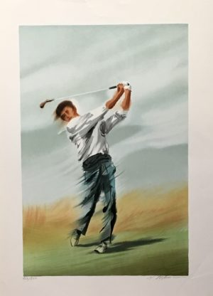 Mourice Filloneau - Golf 2 Swing Ed250 56x76cm