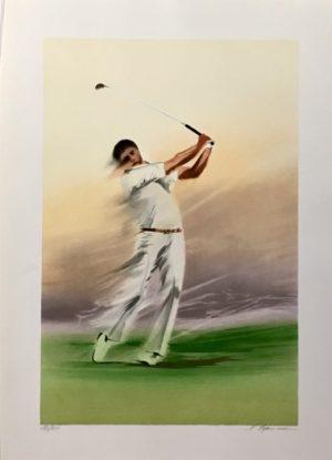 Maurice Fillonneau - Golf 4 Timing Ed250 56x76cm