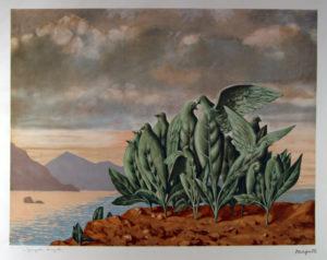 René Magritte - L'Ile au Trésor 74x53cm C Stempelsignert
