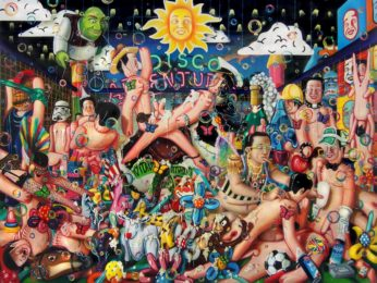 Vincent Langaard - Football Porn 240 x 189 cm