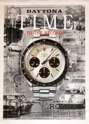 Cay Brøndum Rolex Time black 74x104cm Ed60