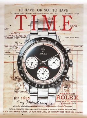 Cay Brøndum Rolex Time red 74x104cm Ed100