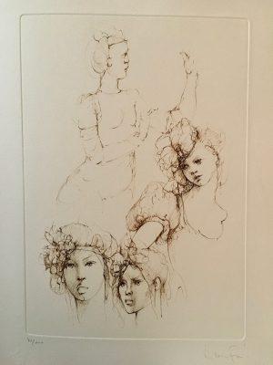 10 Leonor Fini Portraits Les Elus de la nuit L'Archange noir