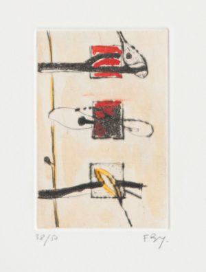 Enrico Baj Bruetshy 38Ex50 8x12cm Paper29x38cm