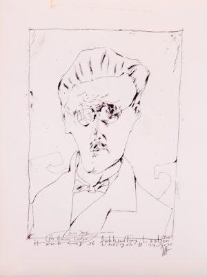 Horst Janssen James Joyce Signed_Unnumbered_28x37