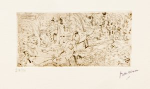 Jules Pascin On the South 1916 28Ex50 Etching 12 x 6 cm